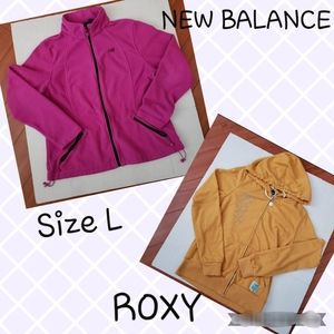 Bundle 2 for $25 fleece jackets Roxy & NB